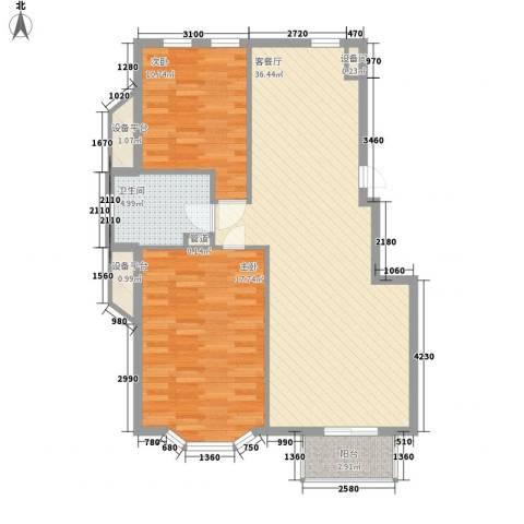 宏都筑景2室1厅1卫0厨85.00㎡户型图