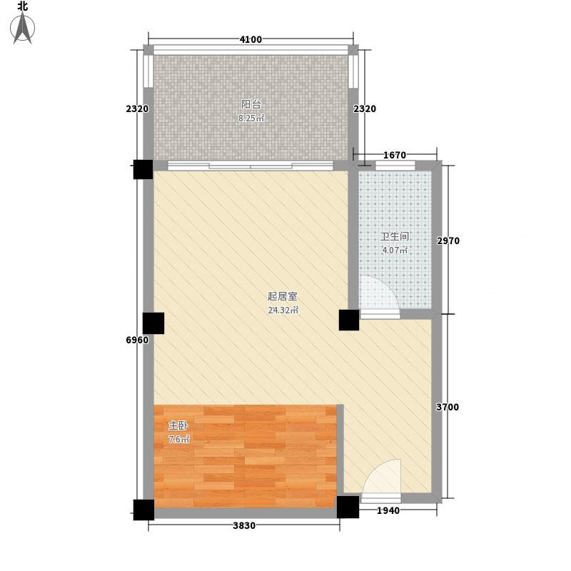 峨秀湖国际度假区54.00㎡三期洋房A2`户型1室1厅1卫1厨