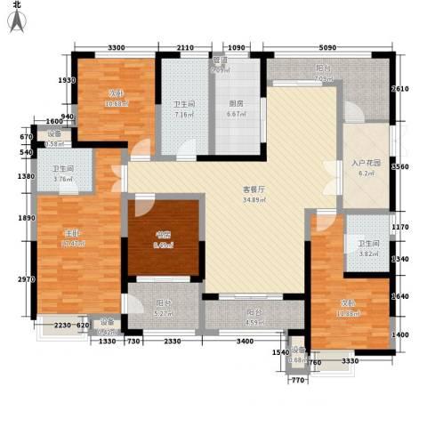 荣禾城市理想4室1厅3卫1厨170.00㎡户型图