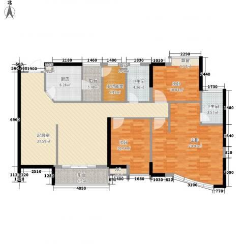 中央公馆蟠龙住宅3室0厅2卫1厨131.00㎡户型图