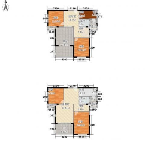 金博水岸5室1厅2卫1厨157.95㎡户型图
