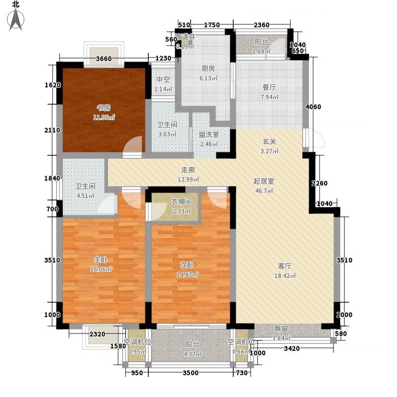 凤翔馨城133.00㎡3#4#楼L11户型3室2厅2卫