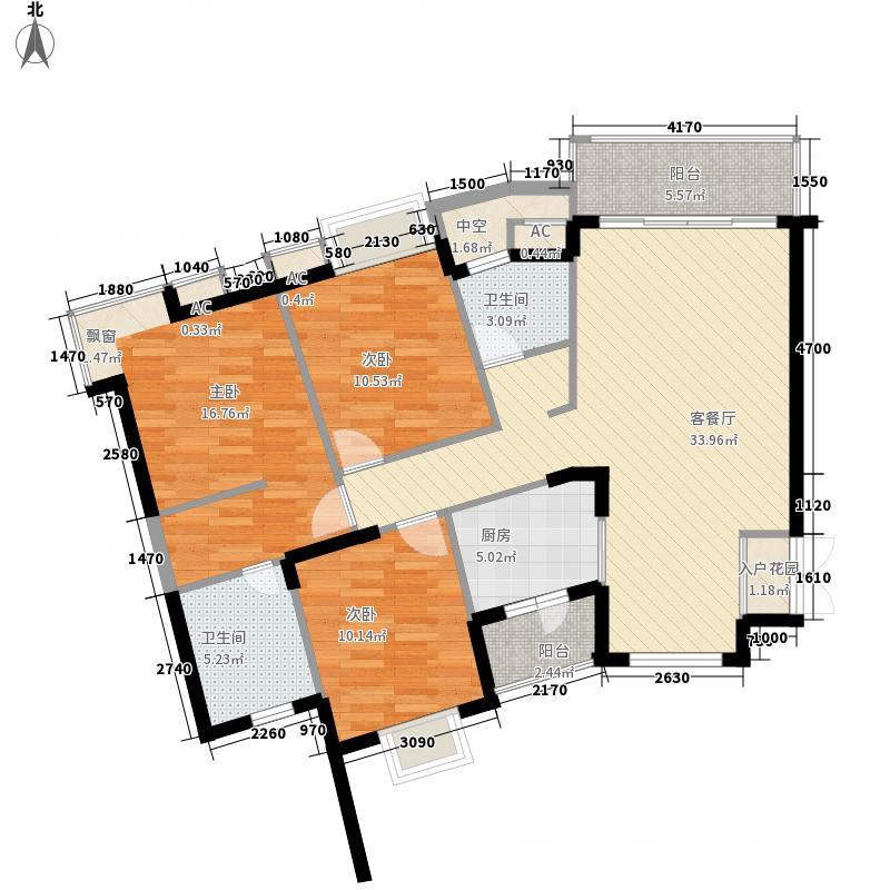 金碧花园137.87㎡金碧花园户型图3-1K户型3室2厅2卫1厨户型3室2厅2卫1厨