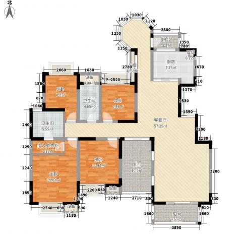 中海东郡4室1厅2卫1厨207.00㎡户型图