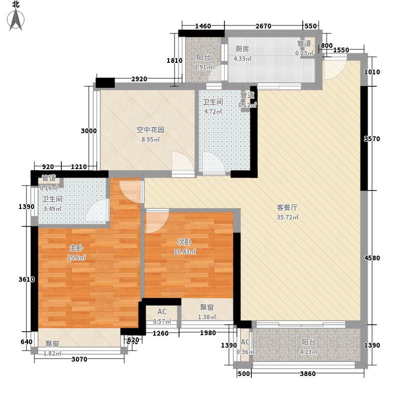 领地海纳豪庭18.00㎡3、4栋04/05户型3室2厅2卫1厨