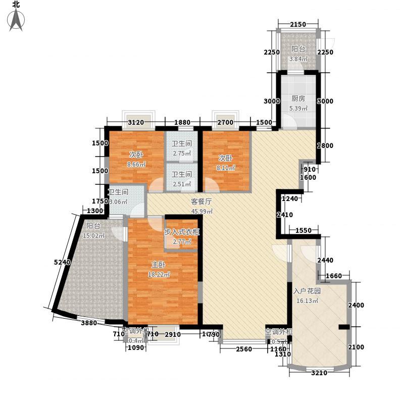 金博水岸162.00㎡二期1#05单元户型3室2厅2卫1厨