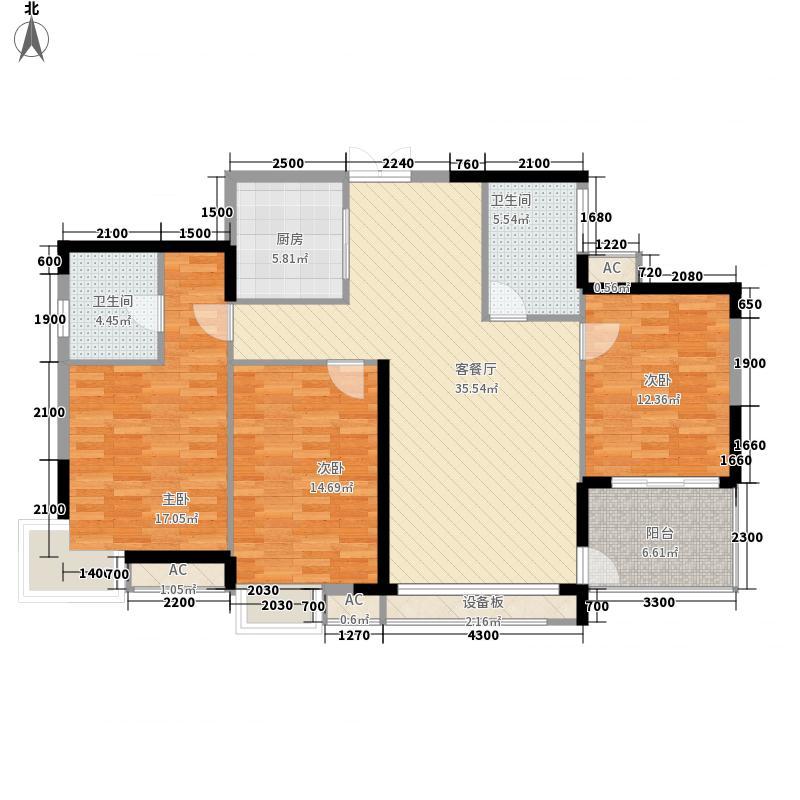 金碧花园124.38㎡金碧花园户型图5-2/5-5E户型3室2厅2卫1厨户型3室2厅2卫1厨