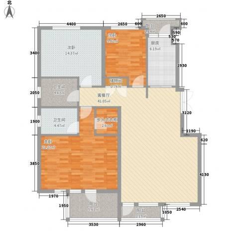中凯梦之城3室1厅2卫1厨115.03㎡户型图