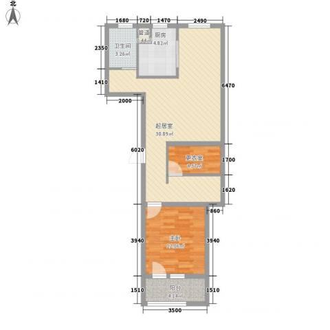 朗诗绿色街区1室0厅1卫1厨88.00㎡户型图