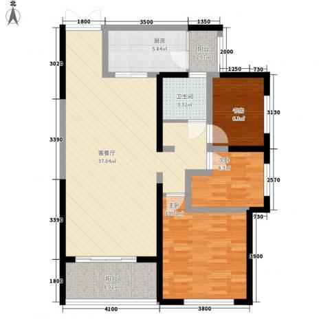 香榭兰廷3室1厅1卫1厨101.00㎡户型图