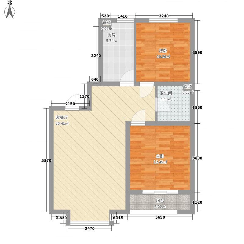 丽景盛园94.00㎡丽景盛园户型图D1户型2室2厅1卫1厨户型2室2厅1卫1厨