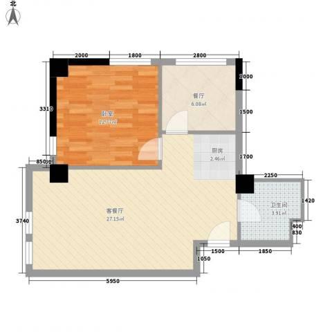 保亿・风景御园2厅1卫0厨73.00㎡户型图