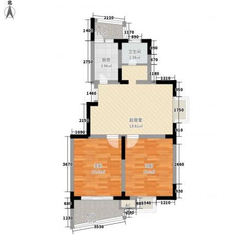 继源城南枫景2室0厅1卫1厨87.00㎡户型图