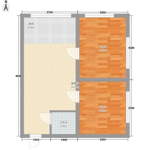 兴政西里2室1厅1卫0厨71.00㎡户型图
