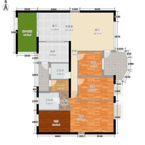 扬名海邑3室0厅2卫1厨193.00㎡户型图