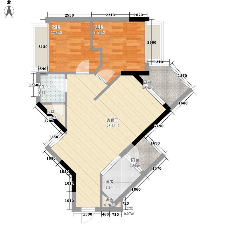 广州雅居乐花园一尺山居80.00㎡广州雅居乐花园一尺山居户型图37栋06单位2室1厅户型2室1厅