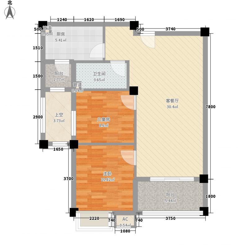 邹城碧桂园88.00㎡J552C/D户型2室2厅1卫1厨