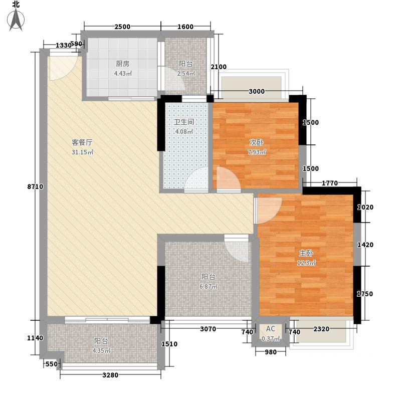 诚丰新园5.54㎡1单元02户型3室2厅1卫1厨