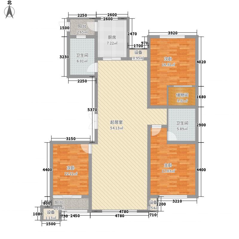 创业・齐悦国际花园175.00㎡一期N1#-N4#楼标准层B户型3室2厅2卫1厨