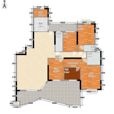 丽江花园6室1厅3卫1厨280.00㎡户型图