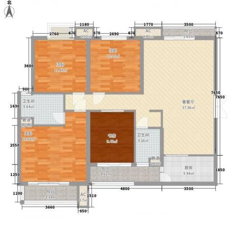 宫园壹号4室1厅2卫1厨149.00㎡户型图