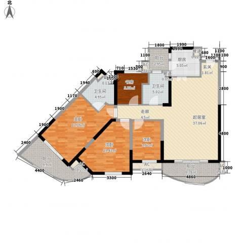 碧桂园十里银滩4室0厅2卫1厨120.00㎡户型图