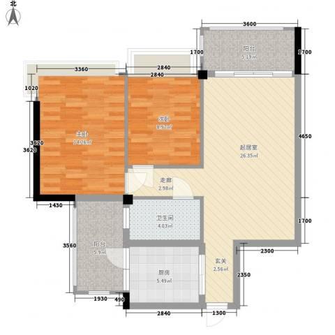 雅居乐花漾集2室0厅1卫1厨79.21㎡户型图