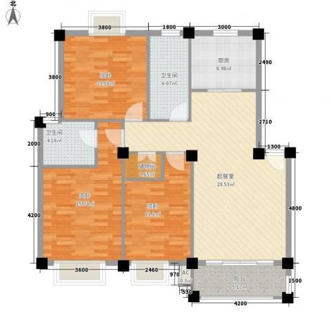 明怡苑3室0厅2卫1厨203.00㎡户型图