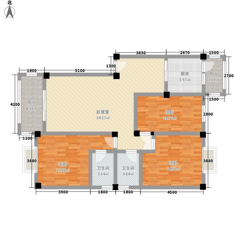 西城丽舍西城丽舍3室2厅2卫1厨户型3室2厅2卫1厨