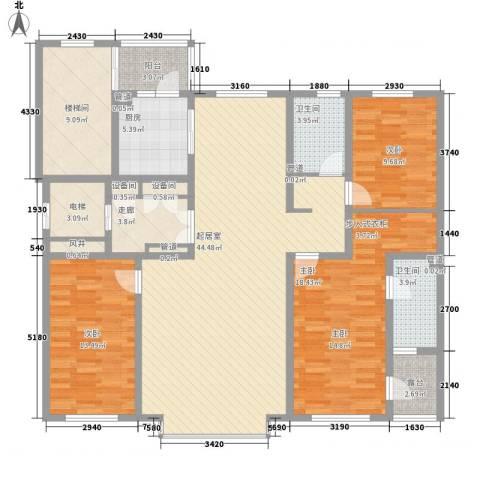 世茂滨江新城3室0厅2卫1厨176.00㎡户型图