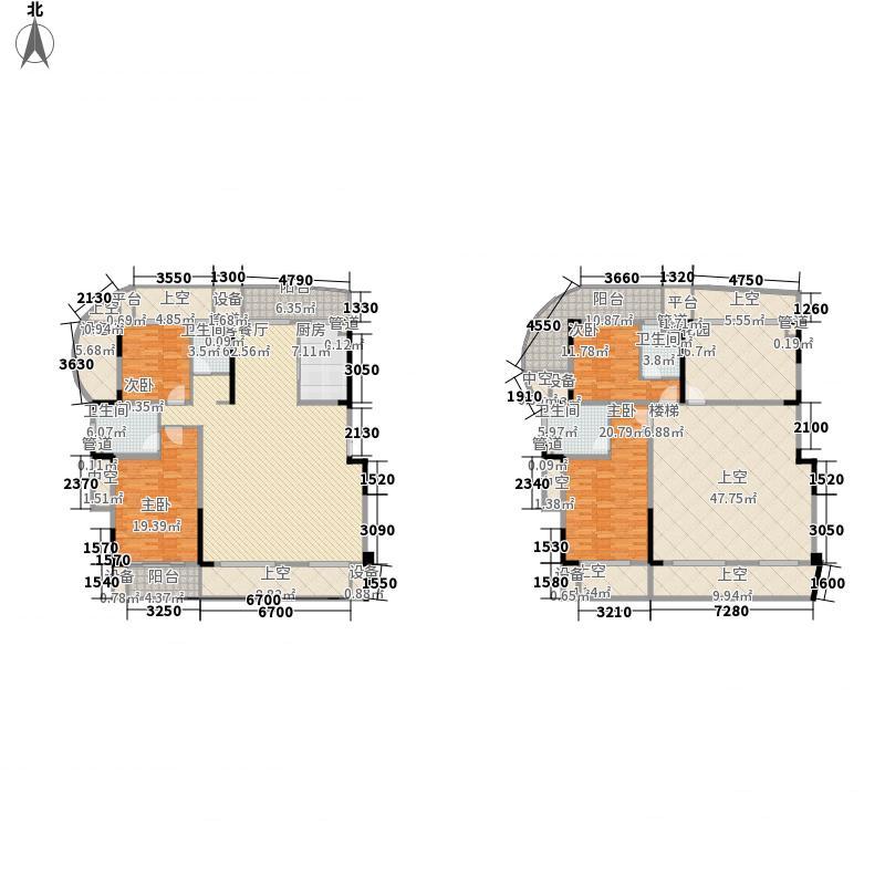 九川滨河国际213.03㎡B栋A1F跃层面积21303m户型