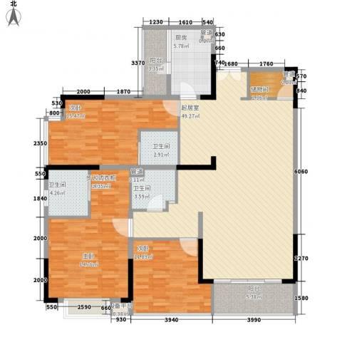 岳泰・理想城3室0厅3卫1厨174.00㎡户型图