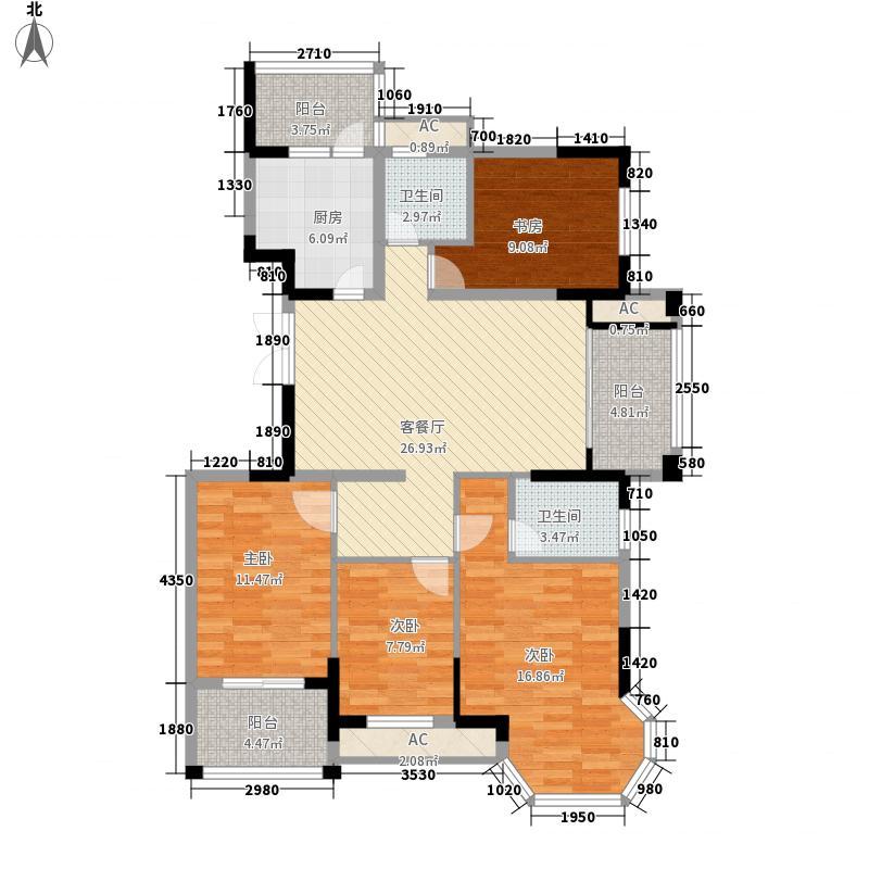 新慧金水岸146.00㎡新慧金水岸户型图J户型4室2厅2卫1厨户型4室2厅2卫1厨