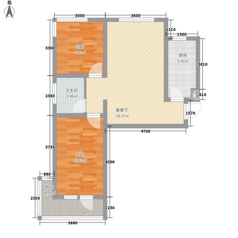 清岛湾77.32㎡31号楼A/C户型2室2厅1卫1厨