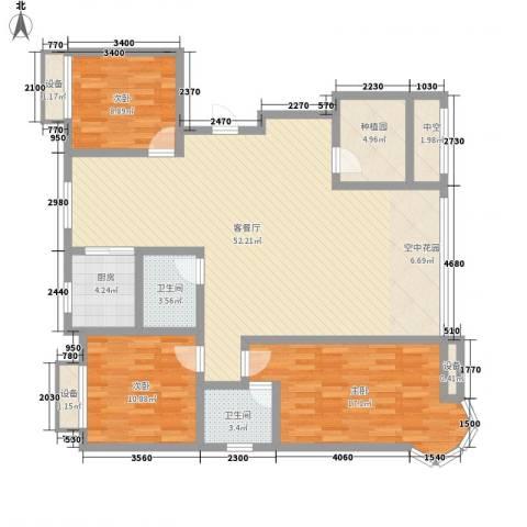 金洋石河湾3室1厅2卫1厨109.94㎡户型图
