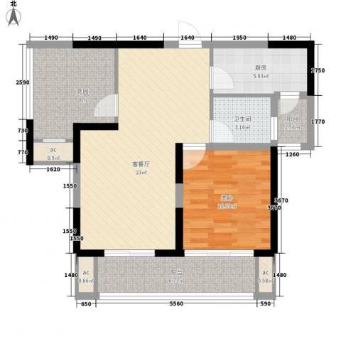 景尚名郡1室1厅1卫1厨88.00㎡户型图