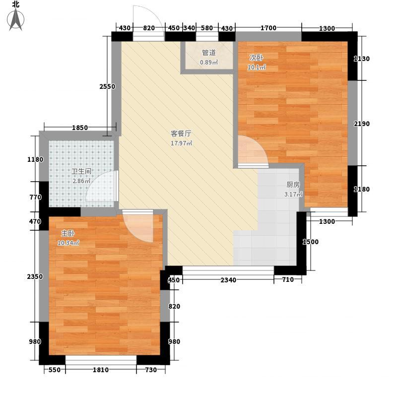 中凯梦之城户型图2室2厅1卫 67.10平户型图 2室2厅1卫