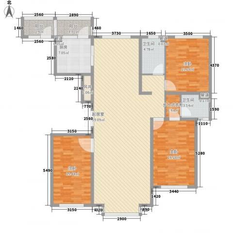 世茂滨江新城3室0厅2卫1厨182.00㎡户型图