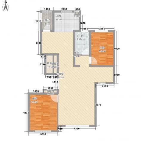 世茂滨江新城2室0厅1卫0厨116.00㎡户型图