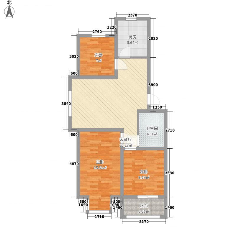 恒伟绿洲97.60㎡恒伟绿洲户型图一期多层F户型户型图3室2厅1卫1厨户型3室2厅1卫1厨