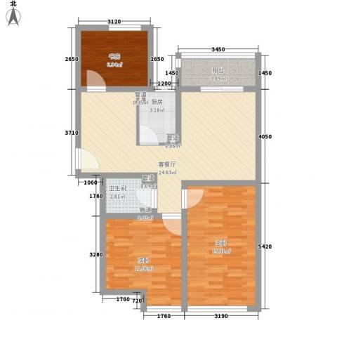 双威理想城3室1厅1卫1厨99.00㎡户型图