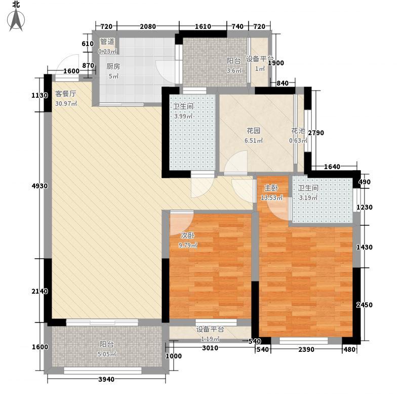 汇荣桂林桂林13.20㎡#16B3户型3室2厅2卫1厨