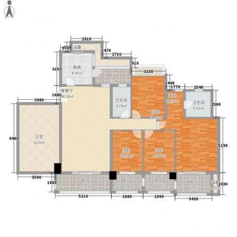 凯旋门4室1厅2卫1厨180.00㎡户型图