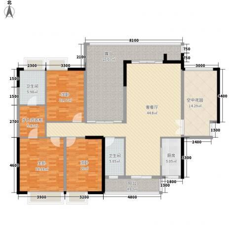 湖光山色3室1厅2卫1厨169.00㎡户型图
