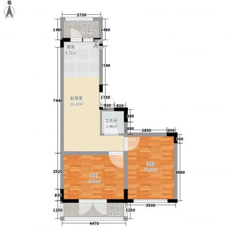 锦绣丽都2室0厅1卫0厨85.00㎡户型图
