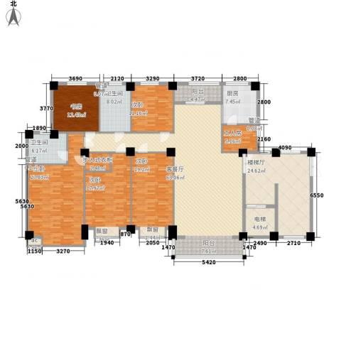 碧龙江畔5室1厅2卫1厨215.44㎡户型图