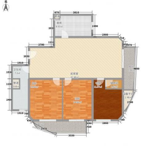 精武大厦公寓3室0厅1卫1厨162.00㎡户型图