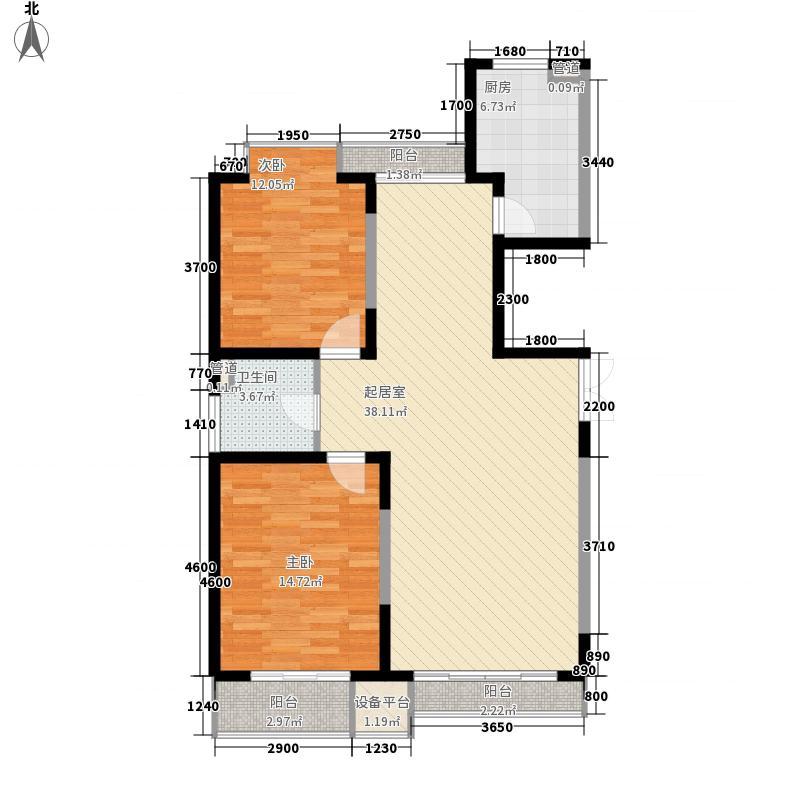 国富华庭国富华庭户型图3#B32室2厅1卫1厨户型2室2厅1卫1厨