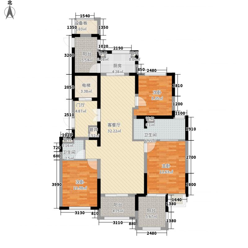 龙湖蔚澜香醍公寓156.00㎡龙湖蔚澜香醍公寓户型图B1户型4室2厅2卫1厨户型4室2厅2卫1厨