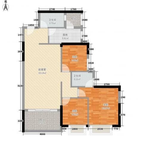 星城格调3室0厅2卫1厨109.00㎡户型图